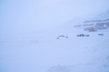 Whiteout in Longyearbyen